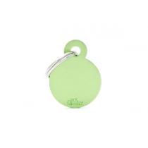 MY FAMILY - Basic Alluminio - Cerchio Piccolo Verde - Medaglietta incisibile