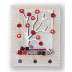 Cartapietra - Appendichiavi - Bosco Rosso - a - Basso Rilievo - Collezione Raccontami - 20x25