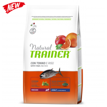 Trainer natural adult medium tonno e riso 12 Kg (ex formato 12,5 Kg)