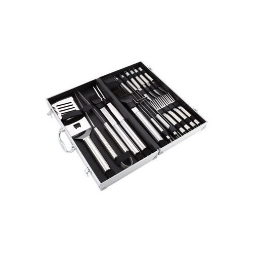 Valigetta attrezzi barbecue professionale 18 pz acciaio inox