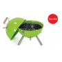 Mini barbecue a carbone Ø 30 cm green