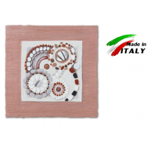 Cartapietra quadretto formella in basso rilievo dolce risveglio biscotto 40 x 40cm