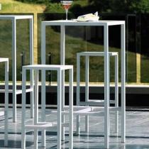 Vermobil tavolo alto seaside 75 x 75 kit + 4 sgabelli bianco raggrinzato