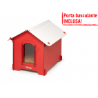 Cuccia HPL Cucciolotta Classic L rossa porta basculante INCLUSA!