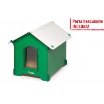 Cuccia HPL Cucciolotta Classic M verde porta basculante INCLUSA