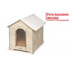 Cuccia HPL Cucciolotta classic XL legno chiaro porta basculante INCLUSA