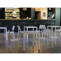 Vermobil set 4 tavoli quatris 70x70 + 16 sedie alice grigio antico