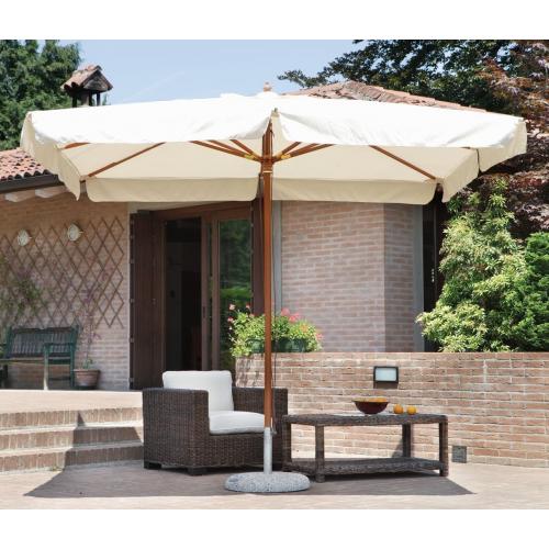 Greenwood ombrellone in legno E4001 ecrù