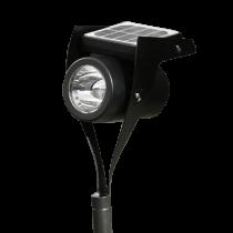 Watt & Home power spot medium luce da esterno con pannello solare nero