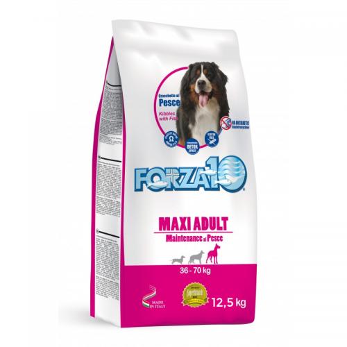 Crocchette per cani Forza 10 maxi mantenimento pesce 12,5 Kg