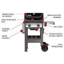 Weber barbecue a gas spirit original E-210 black nero nuovo modello