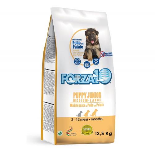 Crocchette per cani Forza 10 puppy junior medium/large pollo e patate 12,5 Kg