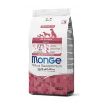 Crocchette per cani Monge manzo e riso 12 Kg