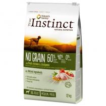 Crocchette per cani True Instinct grain free medium maxi adult pollo 12 Kg