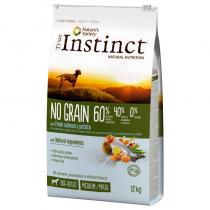 Crocchette per cani True Instinct grain free medium maxi adult salmone 12 Kg