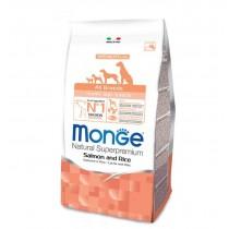 Crocchette per cani Monge puppy & junior salmone e...