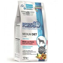 Crocchette per cani Forza 10 medium low grain maiale...