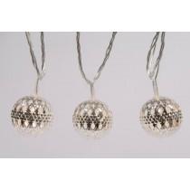 Luci di natale Kaemingk 20 palline bianco caldo silver metal balls 4 m
