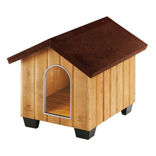 Ferplast domus small cuccia per cani in legno da esterno