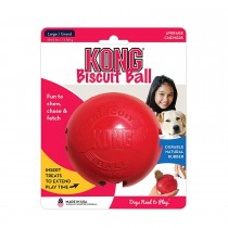 Kong biscuit ball large gioco in gomma per cani rossa
