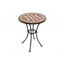 Tavolo da giardino in ferro Greenwood Mosaico TTM 11 ∅ 55 cm