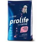 Crocchette per cani Prolife puppy medium/large sensitive agnello e riso nutrigenomic 10 Kg