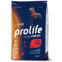 Crocchette per cani Prolife dual fresh manzo, oca e...