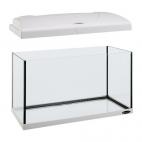 FERPLAST Capri 50 - Acquario in vetro con lampada e filtro interno - 40L - Nero/Bianco