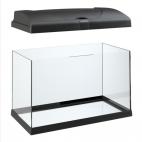 FERPLAST Capri 60 - Acquario in vetro con lampada e filtro interno - 60L - Nero/Bianco