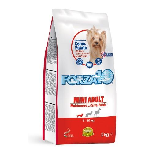 Crocchette per cani Forza 10 mini mantenimento cervo e patate 2 Kg