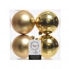 Palline di Natale Kaemingk 6 plain baubles dorate
