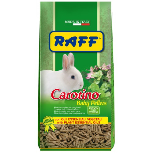 RAFF carotino baby pellet mangime per conigli nani  900 g