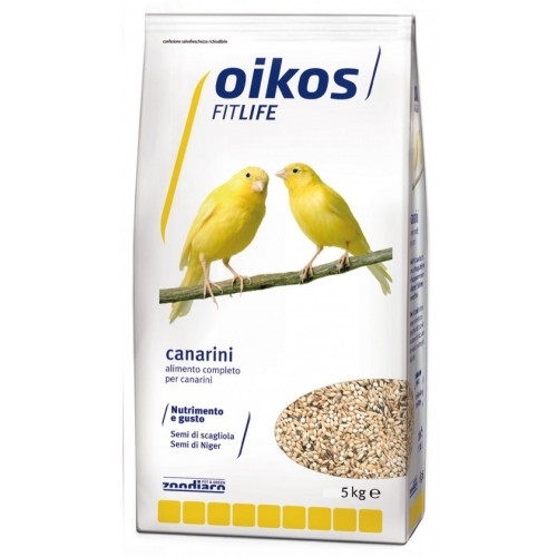 Oikos Fitlife alimento completo per canarini 5 Kg