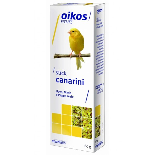 Oikos Fitlife stick uovo, miele e pappa reale per canarini 60 g