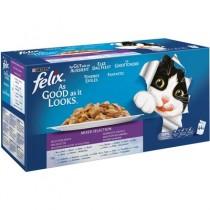 Cibo umido per gatti Felix Le Ghiottonerie multipack 44 pz. x 100 g