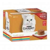 Gourmet Gold tortini Multipack 24 x 85 grammi cibo umido per gatti