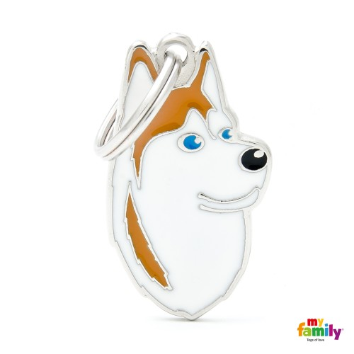 Medagliette per cani My family Husky Siberiano