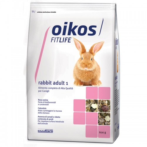 Oikos Rabbit adult 1 600 grammi Alimento completo per conigli