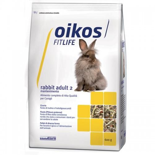 Oikos Rabbit adult 2 600 grammi Alimento completo per conigli