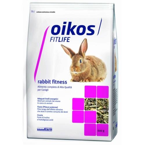 Oikos Rabbit Fitness 600 grammi Alimento completo per conigli
