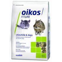 Oikos Chinchillà & Degu 600 grammi Alimento completo per cincillà e degu
