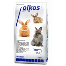 Oikos Mix conigli 2 kg Alimento con frutta e verdura