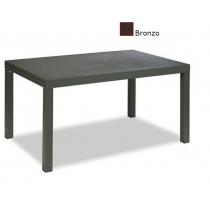 Tavolo da giardino in metallo verniciato Vermobil Sofy estensibile fango 140/280x90
