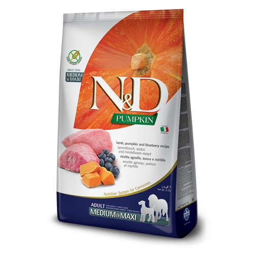 Farmina N&D grain free agnello, zucca e mirtillo 12 kg adult medium/maxi