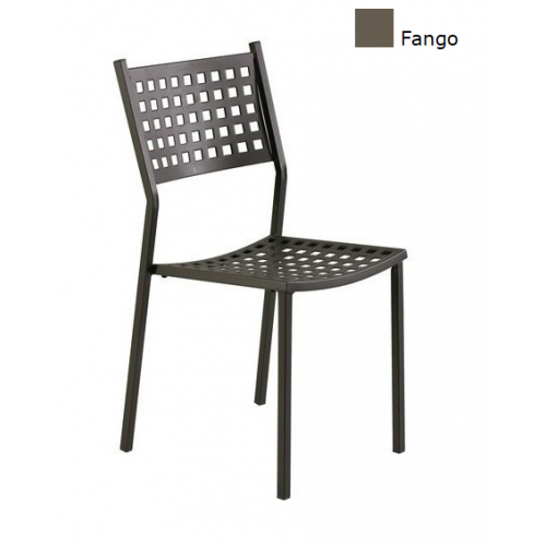 Vermobil sedia alice impilabile in metallo zincato grigio antico