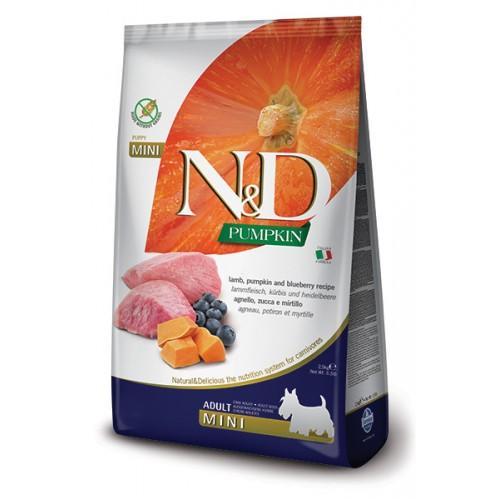 Farmina N&D grain free agnello, zucca e mirtillo 2,5 kg adult mini