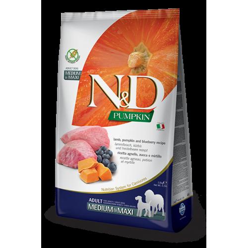 Farmina N&D grain free agnello, zucca e mirtillo 2,5 kg adult medium/maxi