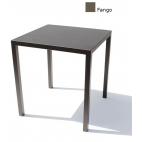 Tavolo in metallo verniciato Vermobil Quatris quadrato 70x70