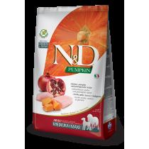 Crocchette per cani Farmina N&D grain free pollo, zucca e melograno 2,5 kg adult medium/maxi