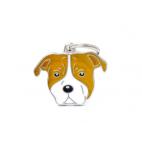 MY FAMILY - FRIENDS - American Staffordshire Terrier - Medaglietta incisibile smaltata a mano
